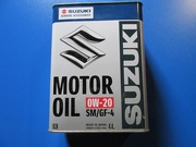 Масло моторное синтетическое Motor Oil SM 0W-20 Suzuki